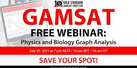 GAMSAT Free Webinar: Physics and Biology Graph Analysis tickets