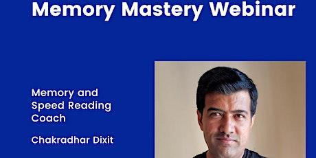 Memory Mastery Webinar Tickets