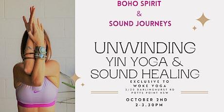 UNWINDING - YIN YOGA & SOUND HEALING tickets