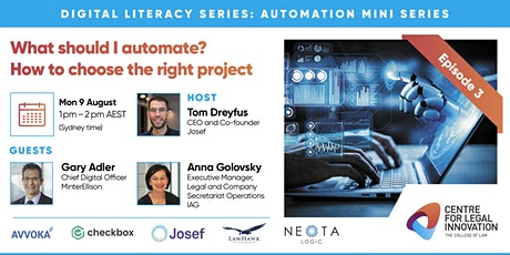Automation Mini Series Ep 3 - What should I automate? tickets