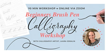 Online Brush Pen Calligraphy Workshop tickets