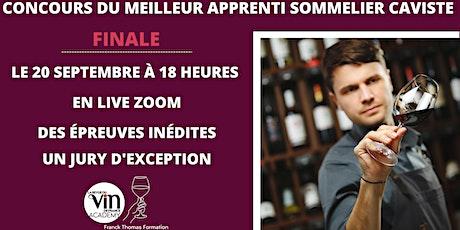 Concours du Meilleur Apprenti Sommelier -Caviste de Franck Thomas Formation billets