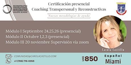 Certificación en Coaching  Transpersonal y Reconstructivas (presencial) entradas