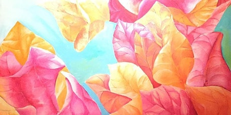 The Friday Gallery Watercolour painting online class: Bougainvillea tickets