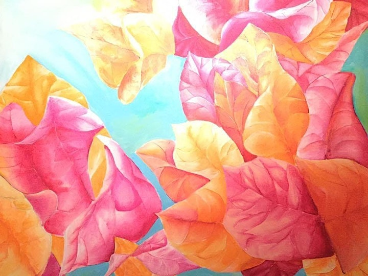 The Friday Gallery Watercolour painting online class: Bougainvillea image