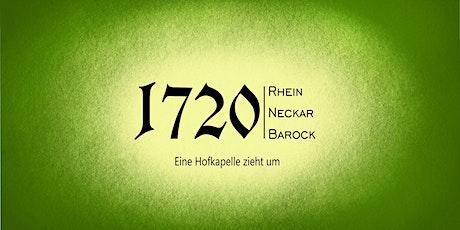 1720 - eine Hofkapelle zieht um. 2 Violinen, Laute  b.c. Tickets