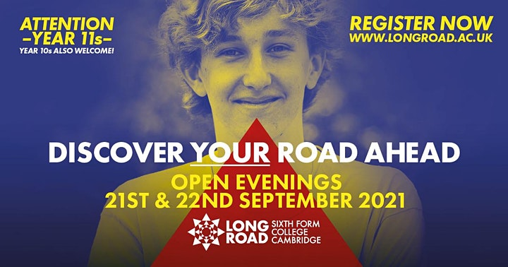 Long Road Sixth Form College Open Evenings image