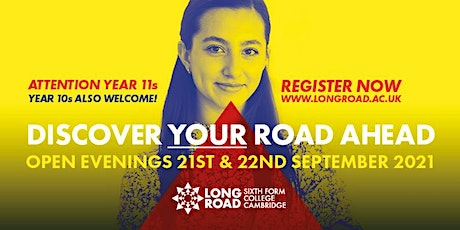 Long Road Sixth Form College Open Evenings tickets