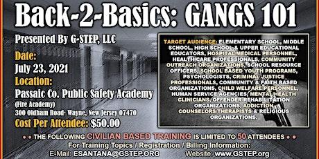 Back-2-Basics: Civilian-Based Gangs 101 Training tickets