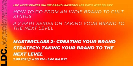 Masterclass 2: Creating your brand strategy tickets