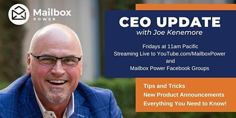 Mailbox Power CEO Update tickets