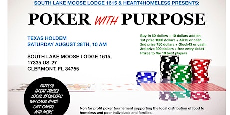Poker with purpose August 28th tournament tickets