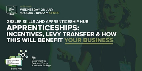 Apprenticeships: Incentives, Levy Transfer and how this will benefit you tickets