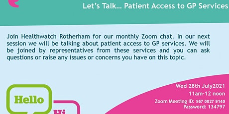 Let's Talk...Patient Access to GP Services tickets