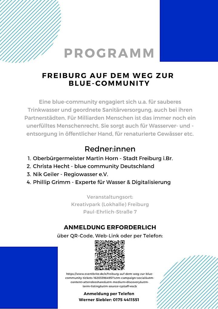 Freiburg, auf dem Weg zur blue-community: Bild