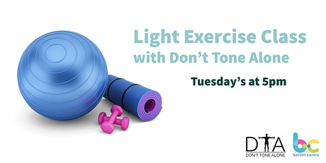 Light Exercise,  stretch and relaxation Classes with Don't Tone Alone tickets