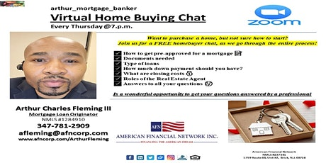 Home Ownership 101 -FREE -Virtual Home Buying Chat -Every Thursday @7pm tickets