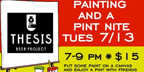 Painting and a Pint at Thesis tickets