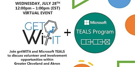 getWITit + Microsoft TEALS Partnership tickets