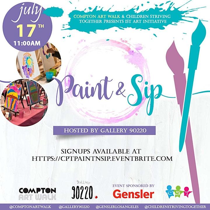 Compton Art Walk x Children Striving Together Paint n Sip image
