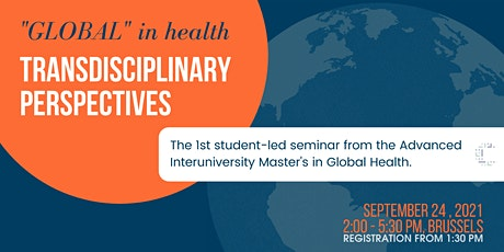 """""""Global"""" in Health: Transdisciplinary Perspectives tickets"""