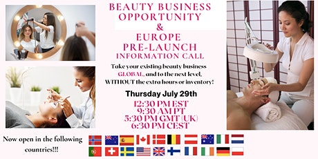 Glow Up Your Beauty Business/Europe Pre-Launch Information tickets