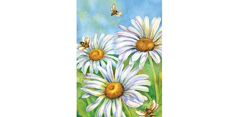 60min Paint A  Scenery - Daisy @1PM  (Ages 6+) tickets