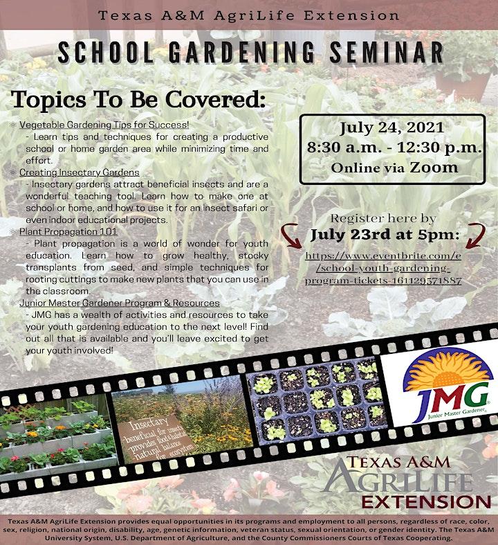 School Youth Gardening Program image