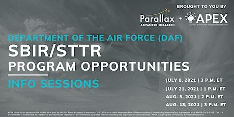 DAF SBIR/STTR Program Opportunities Info Session tickets