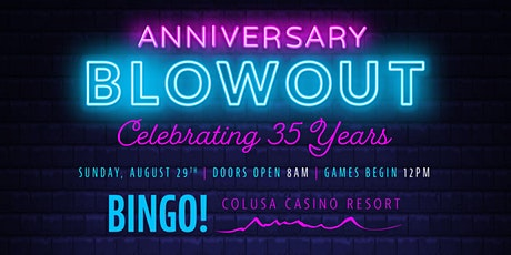 Anniversary Bingo Blowout tickets