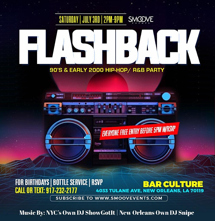 Flashback: 90's & Early 2000's Hip Hop/R&B Party Essence Festival 2021 image