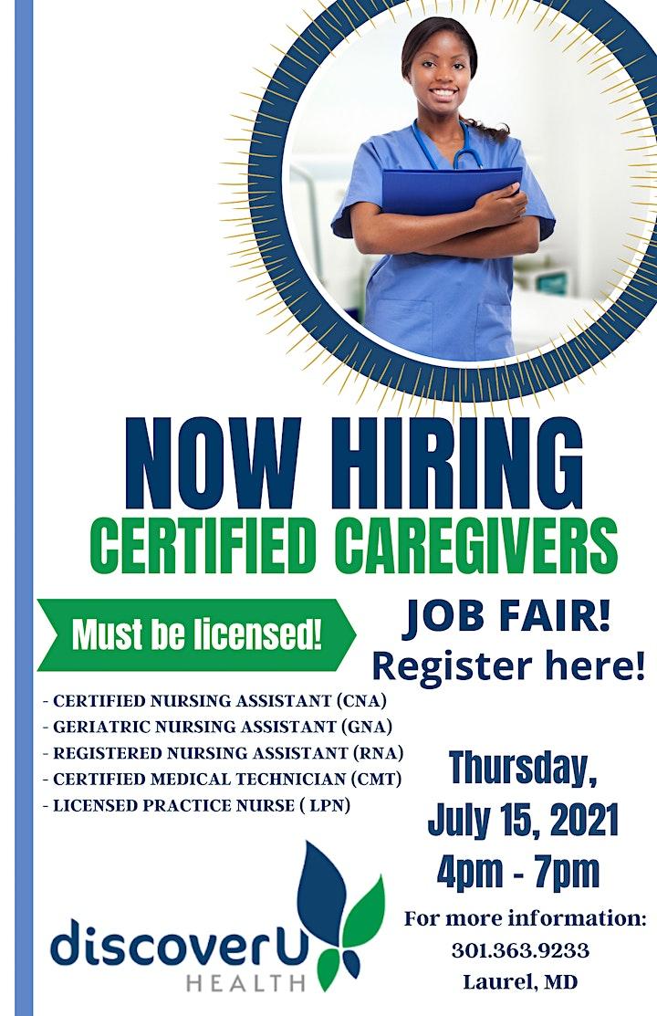 Now Hiring- Certified Caregivers image