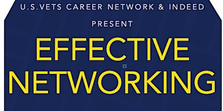 U.S.VETS Career Network & Indeed Present: Effective Networking tickets