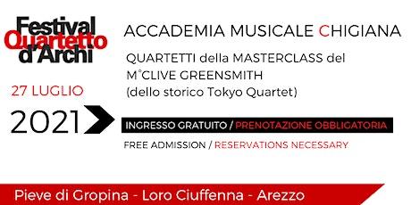 27° Festival del Quartetto d'Archi - Accademia Musicale Chigiana biglietti