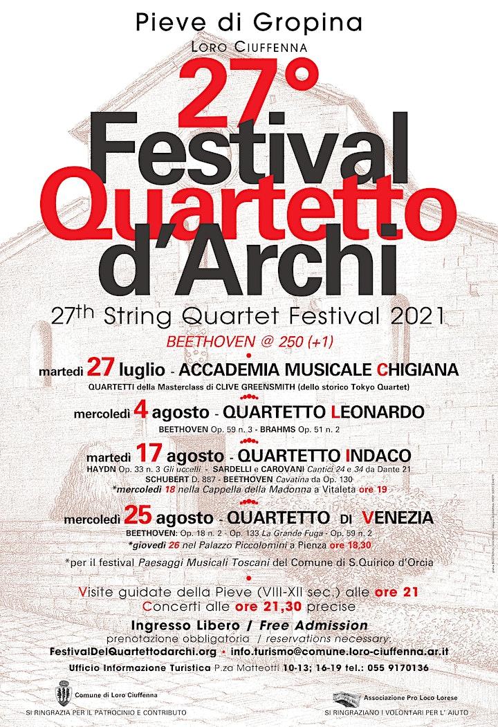 Immagine 27° Festival del Quartetto d'Archi - Quartetto Leo