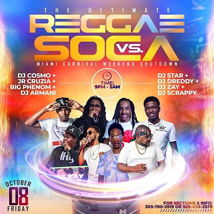 Reggae Vs Soca Miami Carnival Friday image