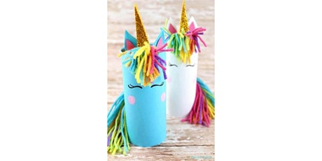 45min Learn to Craft: Paper Roll Unicorn @2PM  (Ages 5+) tickets