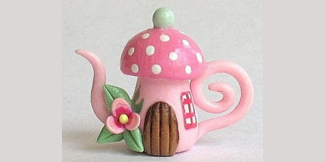 60 min Clay Lesson - Mushroom Teapot @12PM (Ages 5+) tickets
