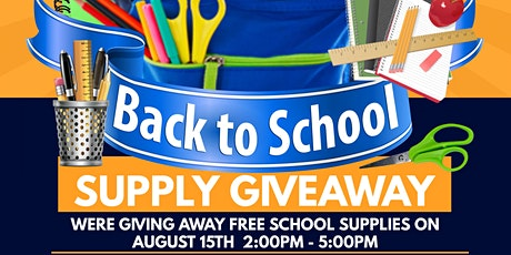 GIG Balloon & Event Designs 3rd Annual Back 2 school  Supply Giveaway tickets