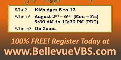 Free Virtual Summer Camp by Bellevue Vbs tickets