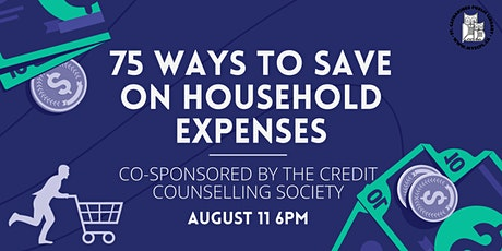 75 Ways to Save on Household Expenses tickets