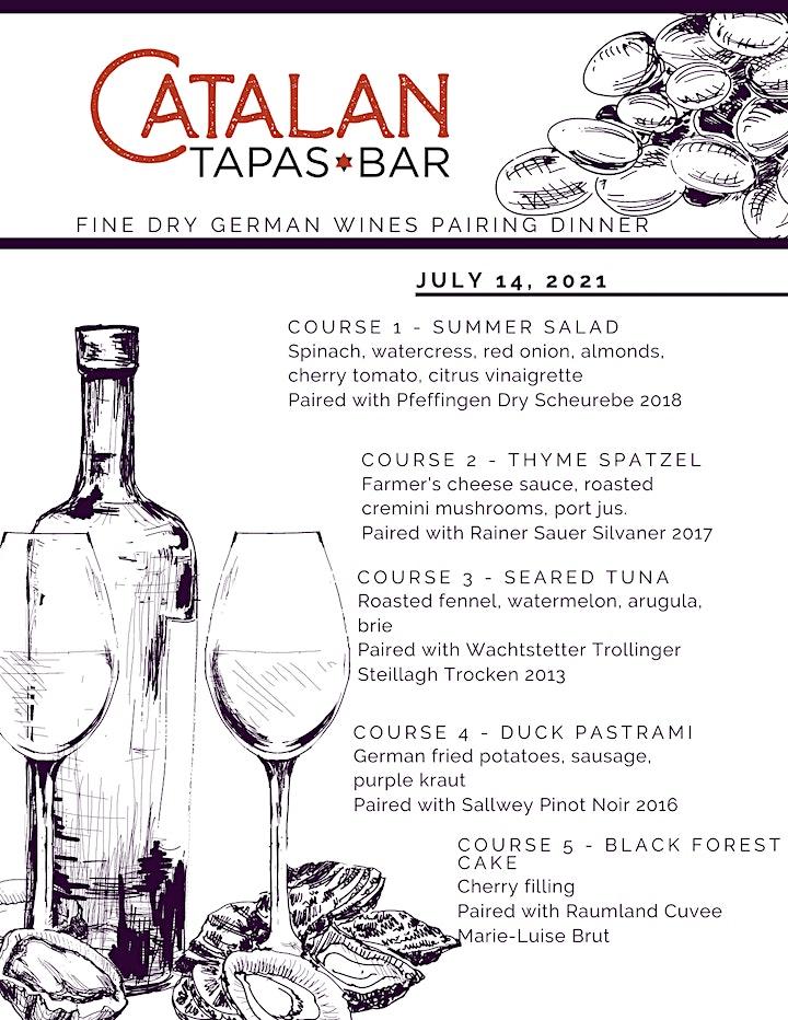 Catalan Tapas & Bar Passport Wine Dinner - Fine Dry German Wines image