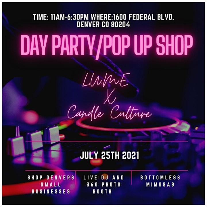 L.U.M.E & Candle Culture Present: Day Party Pop-Up Shop image
