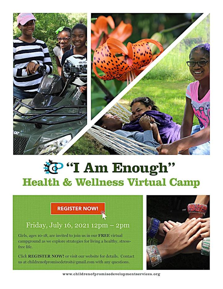 I AM ENOUGH! Virtual Health & Wellness Camp for Girls image