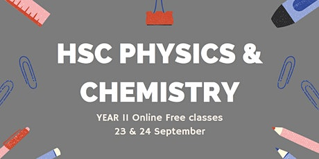 HSC Physics and HSC Chemistry Online [Year 11] tickets