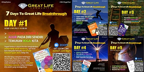 7 Days to Great Life Breakthrough tickets
