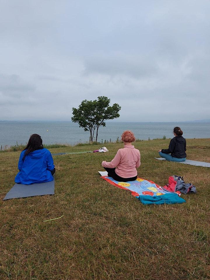 Yoga at the sea image