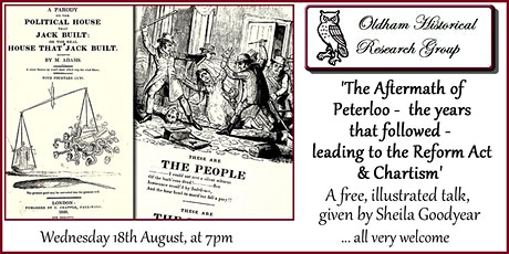 The Aftermath of Peterloo -  the years that followed tickets