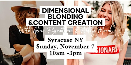 SYRACUSE NY Dimensional Blonding & Content Creation with Ashley and Adina tickets