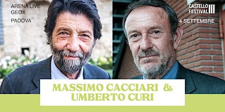 MASSIMO CACCIARI E UMBERTO CURI: LA MORTE DEL TEMPO biglietti